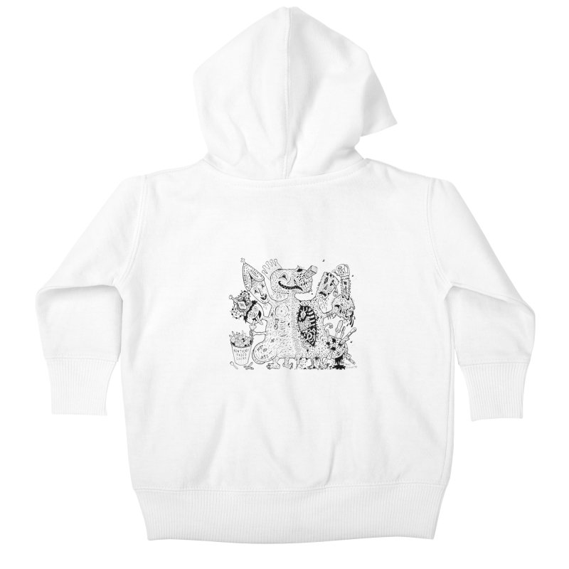 Half-Dead Freak Kids Baby Zip-Up Hoody by Mike Diana T-Shirts! Horrible Ugly Heads Limited E