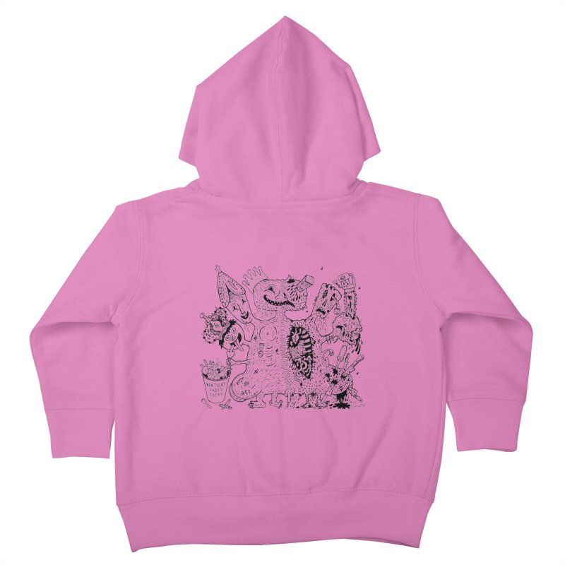 Half-Dead Freak Kids Toddler Zip-Up Hoody by Mike Diana T-Shirts! Horrible Ugly Heads Limited E