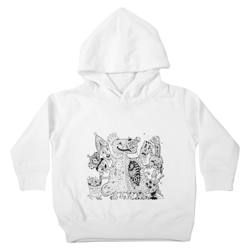 Half-Dead Freak Kids Toddler Pullover Hoody by Mike Diana T-Shirts! Horrible Ugly Heads Limited E