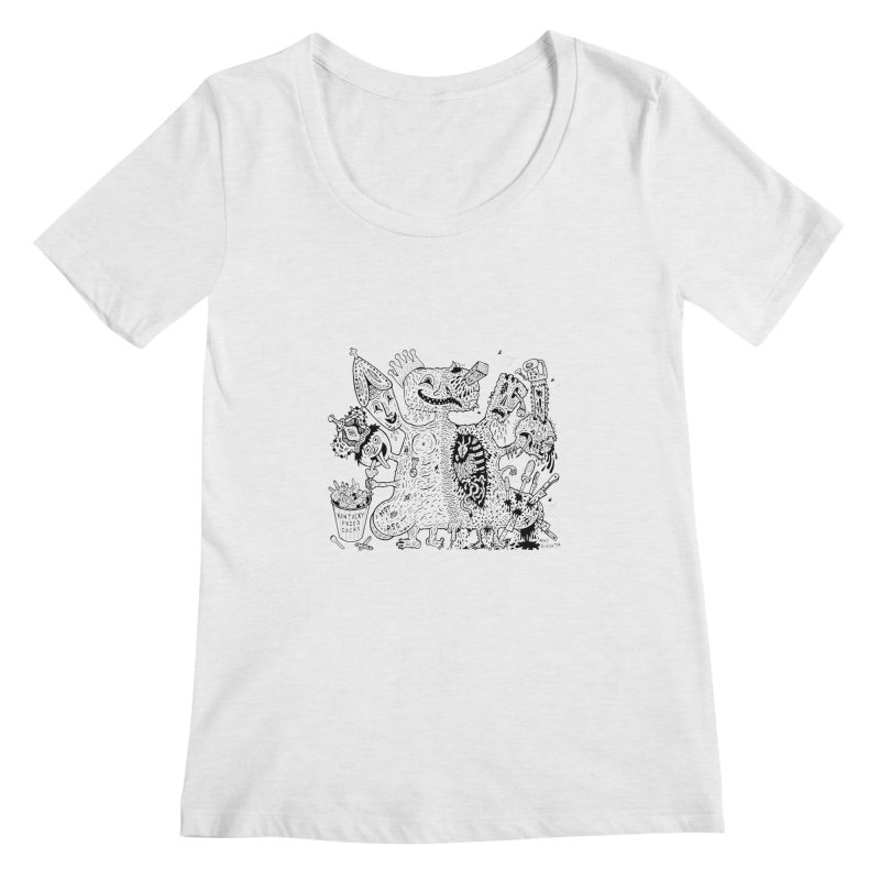 Half-Dead Freak Women's Scoopneck by Mike Diana T-Shirts! Horrible Ugly Heads Limited E