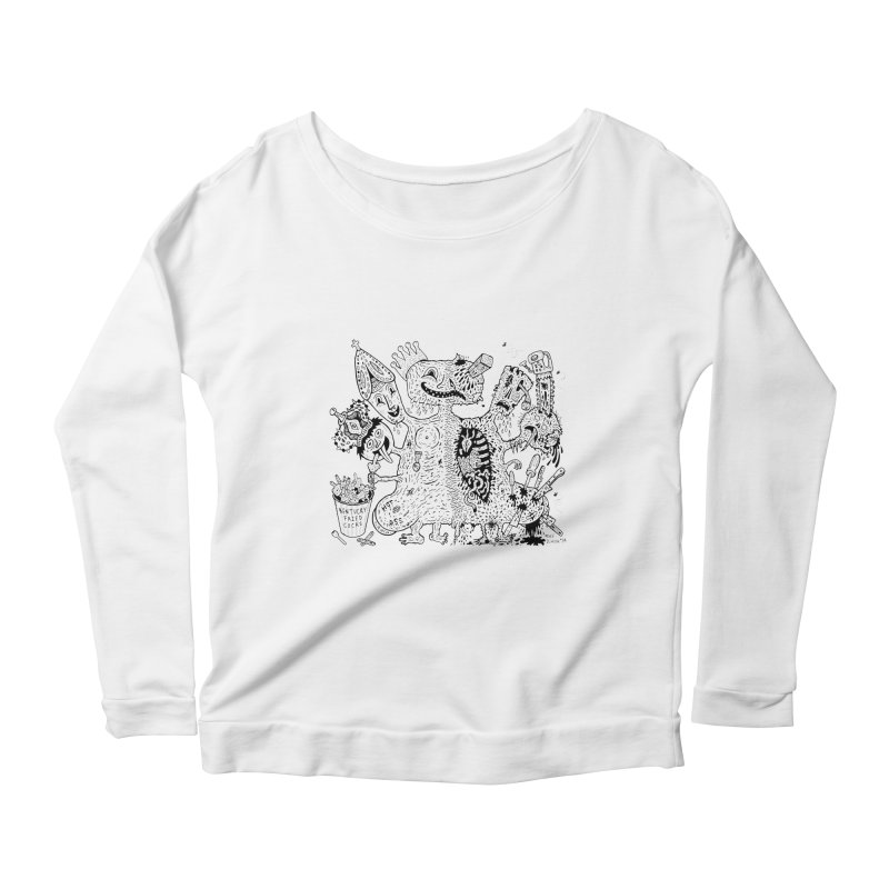 Half-Dead Freak Women's Longsleeve Scoopneck  by Mike Diana T-Shirts! Horrible Ugly Heads Limited E