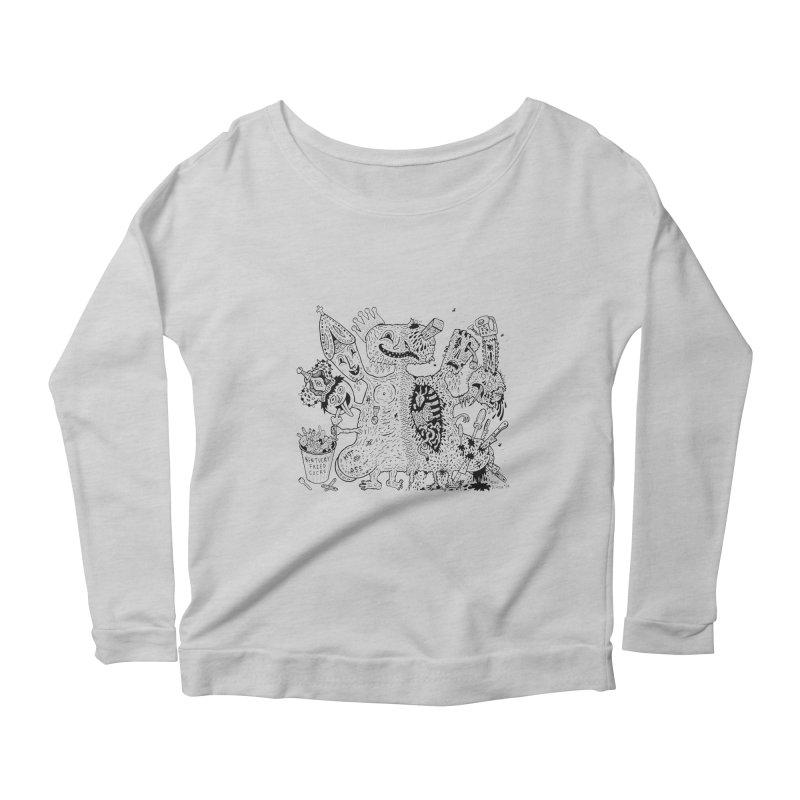 Half-Dead Freak Women's Longsleeve Scoopneck  by Mike Diana T-Shirts! Horrible Ugly Heads Limited E