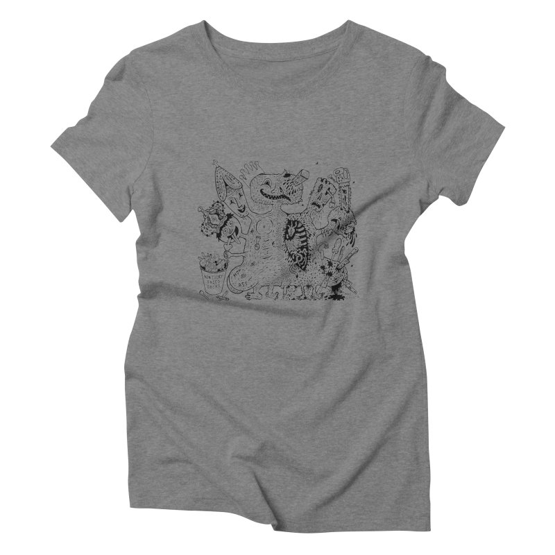 Half-Dead Freak Women's Triblend T-Shirt by Mike Diana T-Shirts! Horrible Ugly Heads Limited E