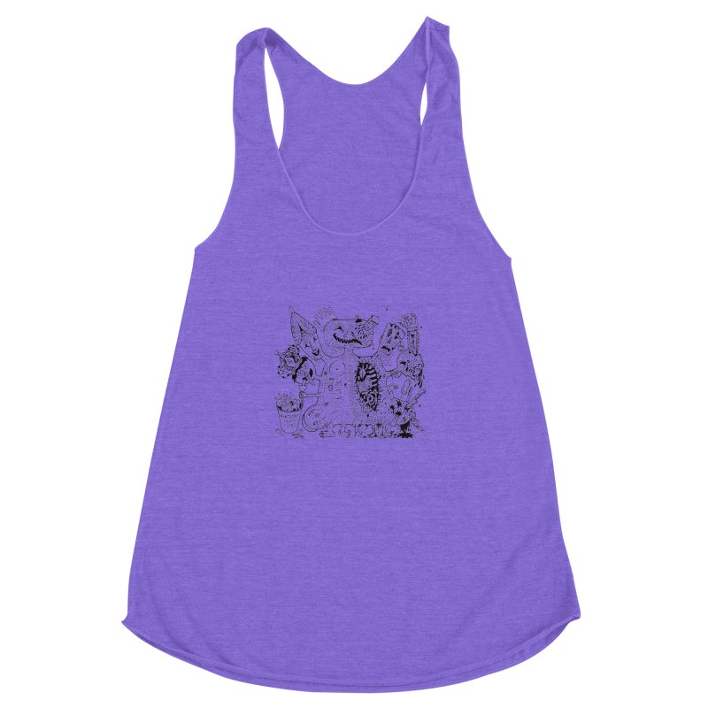 Half-Dead Freak Women's Racerback Triblend Tank by Mike Diana T-Shirts! Horrible Ugly Heads Limited E
