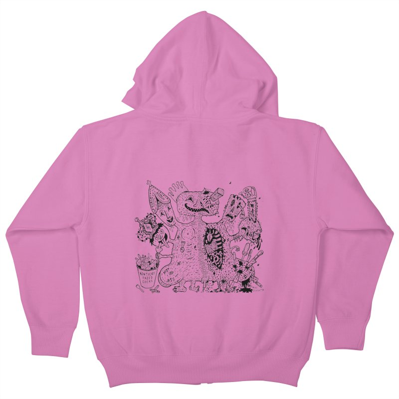 Half-Dead Freak Kids Zip-Up Hoody by Mike Diana T-Shirts! Horrible Ugly Heads Limited E