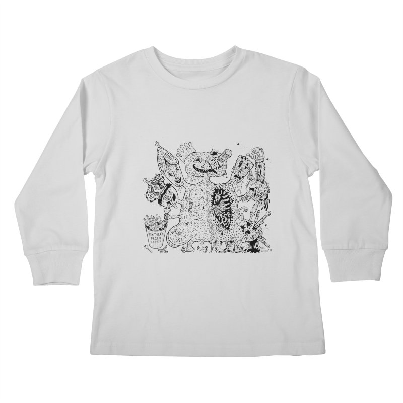 Half-Dead Freak Kids Longsleeve T-Shirt by Mike Diana T-Shirts! Horrible Ugly Heads Limited E