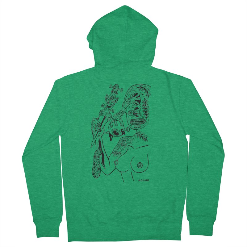 Another Boiled Angel Women's Zip-Up Hoody by Mike Diana T-Shirts! Horrible Ugly Heads Limited E