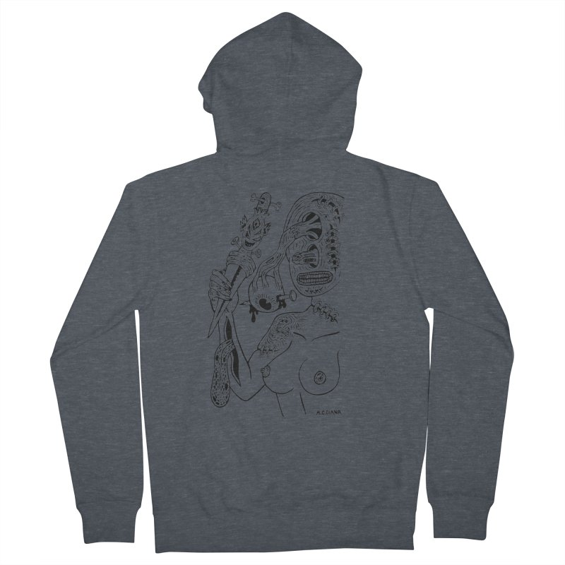 Another Boiled Angel Men's Zip-Up Hoody by Mike Diana T-Shirts! Horrible Ugly Heads Limited E