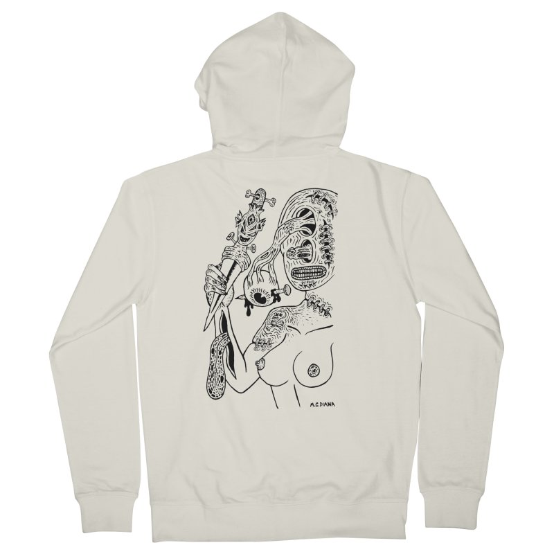 Another Boiled Angel Men's French Terry Zip-Up Hoody by Mike Diana T-Shirts! Horrible Ugly Heads Limited E