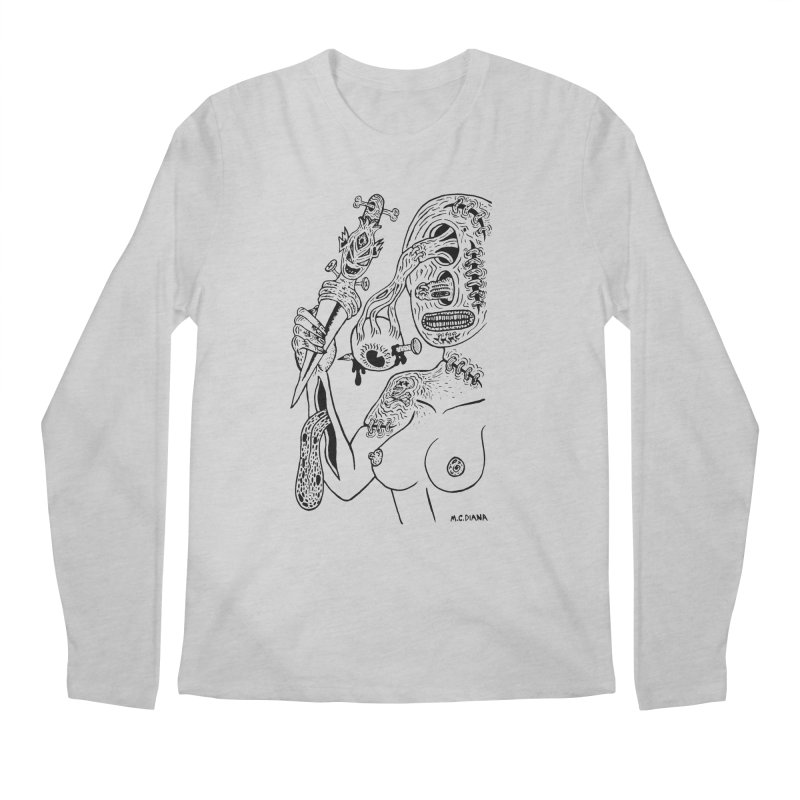 Another Boiled Angel  Men's Longsleeve T-Shirt by Mike Diana T-Shirts! Horrible Ugly Heads Limited E