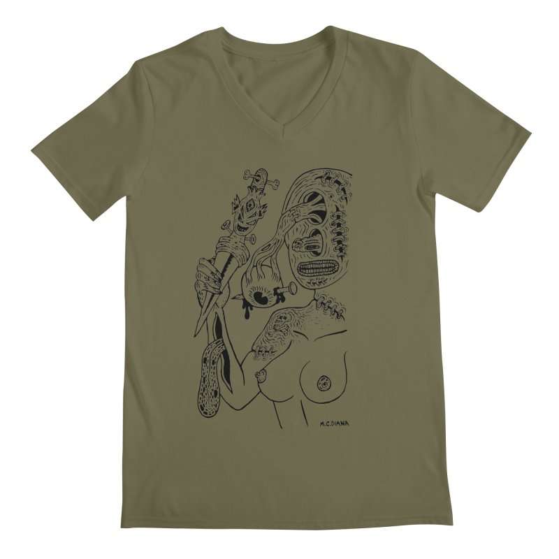 Another Boiled Angel  Men's V-Neck by Mike Diana T-Shirts! Horrible Ugly Heads Limited E