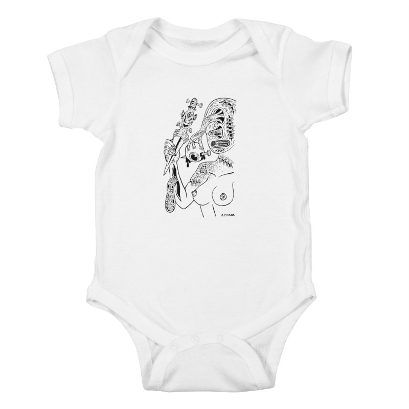 Another Boiled Angel Kids Baby Bodysuit by Mike Diana T-Shirts! Horrible Ugly Heads Limited E