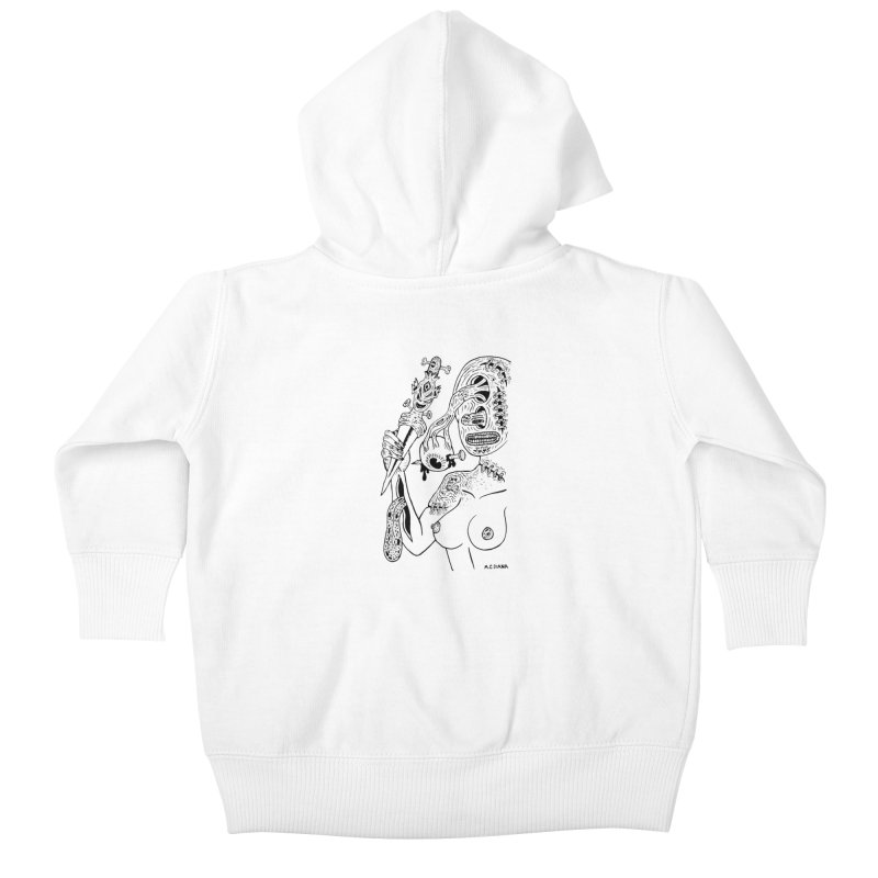 Another Boiled Angel Kids Baby Zip-Up Hoody by Mike Diana T-Shirts! Horrible Ugly Heads Limited E