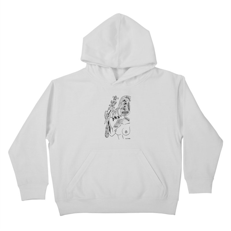 Another Boiled Angel Kids Pullover Hoody by Mike Diana T-Shirts! Horrible Ugly Heads Limited E