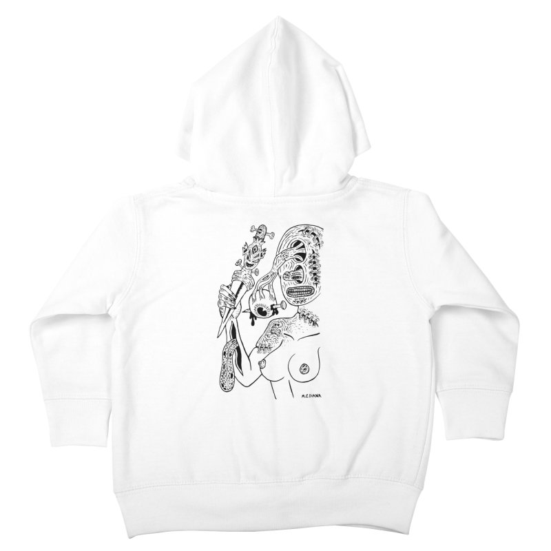 Another Boiled Angel Kids Toddler Zip-Up Hoody by Mike Diana T-Shirts! Horrible Ugly Heads Limited E