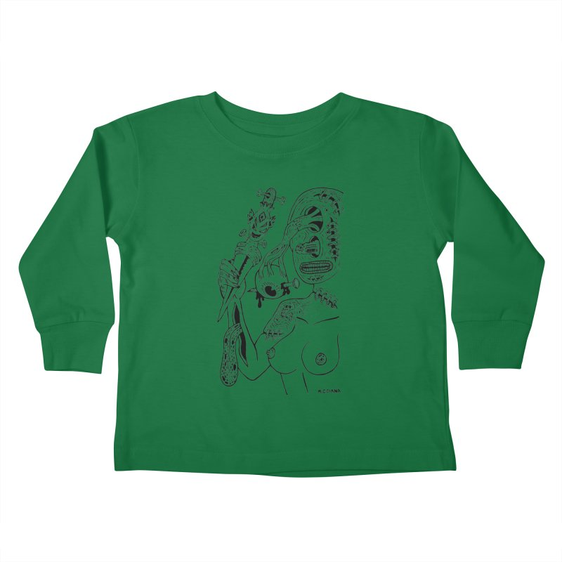 Another Boiled Angel  Kids Toddler Longsleeve T-Shirt by Mike Diana T-Shirts! Horrible Ugly Heads Limited E