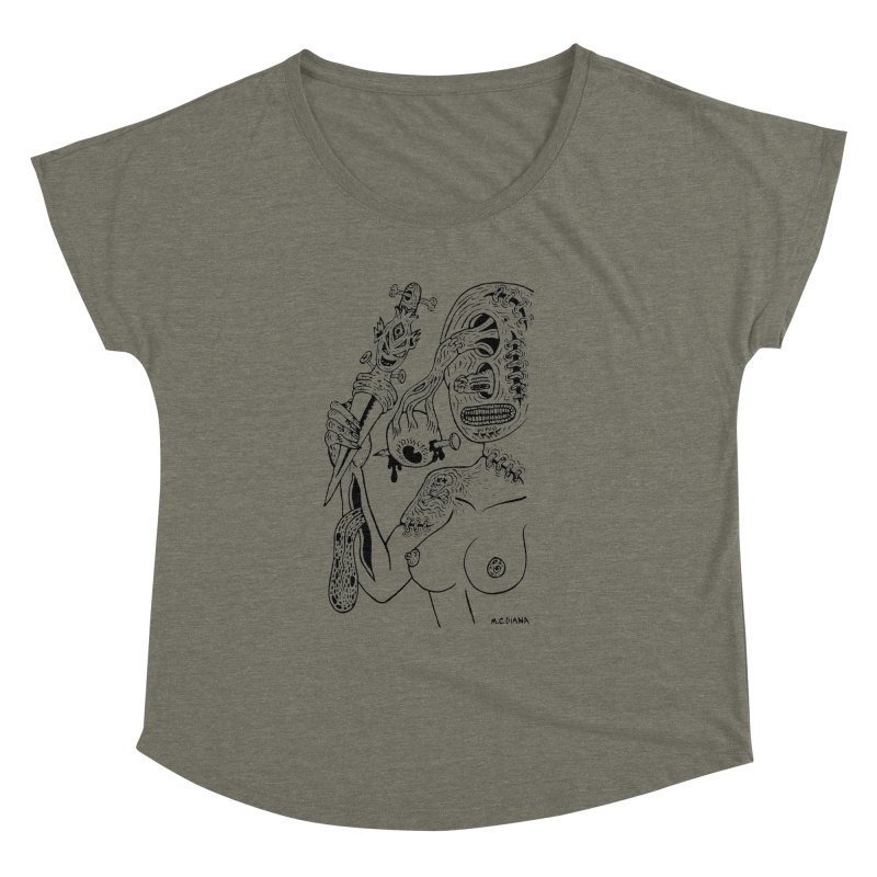 Another Boiled Angel Women's Dolman Scoop Neck by Mike Diana T-Shirts! Horrible Ugly Heads Limited E