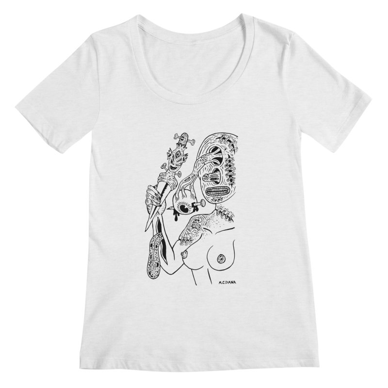 Another Boiled Angel Women's Scoopneck by Mike Diana T-Shirts! Horrible Ugly Heads Limited E