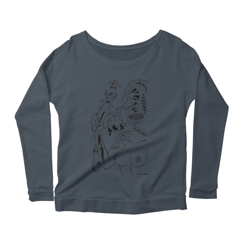 Another Boiled Angel Women's Longsleeve Scoopneck  by Mike Diana T-Shirts! Horrible Ugly Heads Limited E
