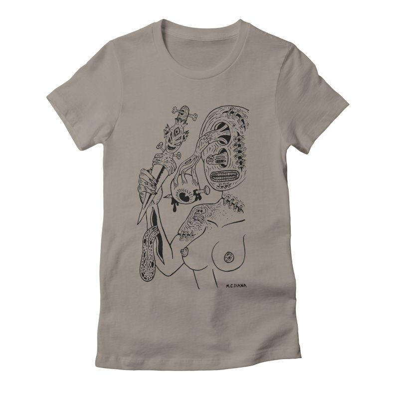 Another Boiled Angel  Women's Fitted T-Shirt by Mike Diana T-Shirts! Horrible Ugly Heads Limited E