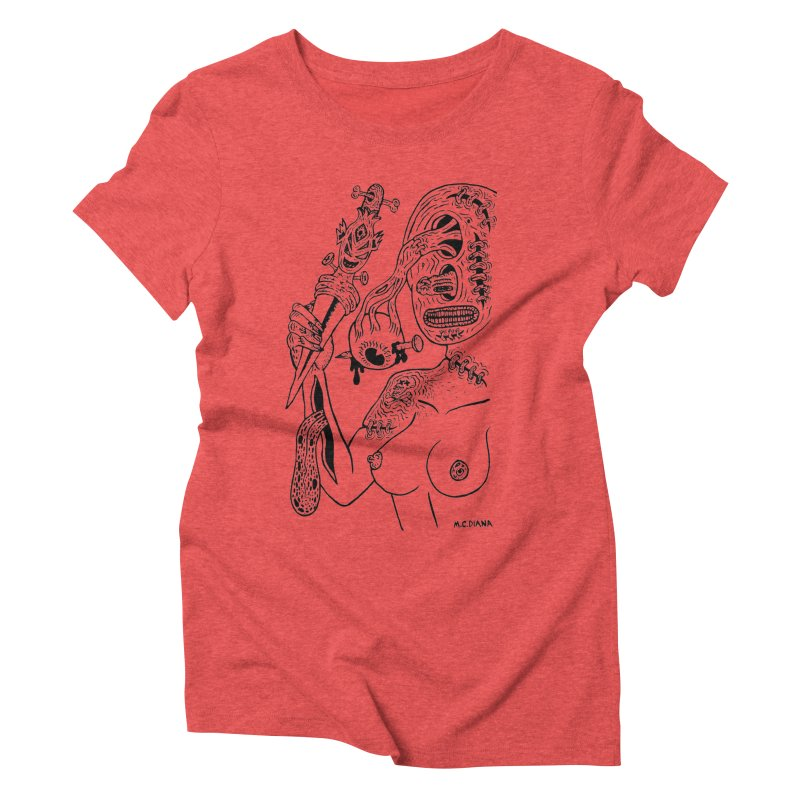 Another Boiled Angel Women's Triblend T-Shirt by Mike Diana T-Shirts! Horrible Ugly Heads Limited E