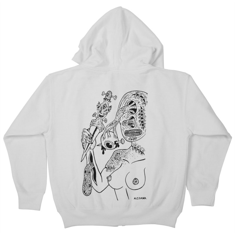 Another Boiled Angel  Kids Zip-Up Hoody by Mike Diana T-Shirts! Horrible Ugly Heads Limited E