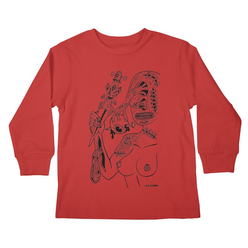 Another Boiled Angel Kids Longsleeve T-Shirt by Mike Diana T-Shirts! Horrible Ugly Heads Limited E