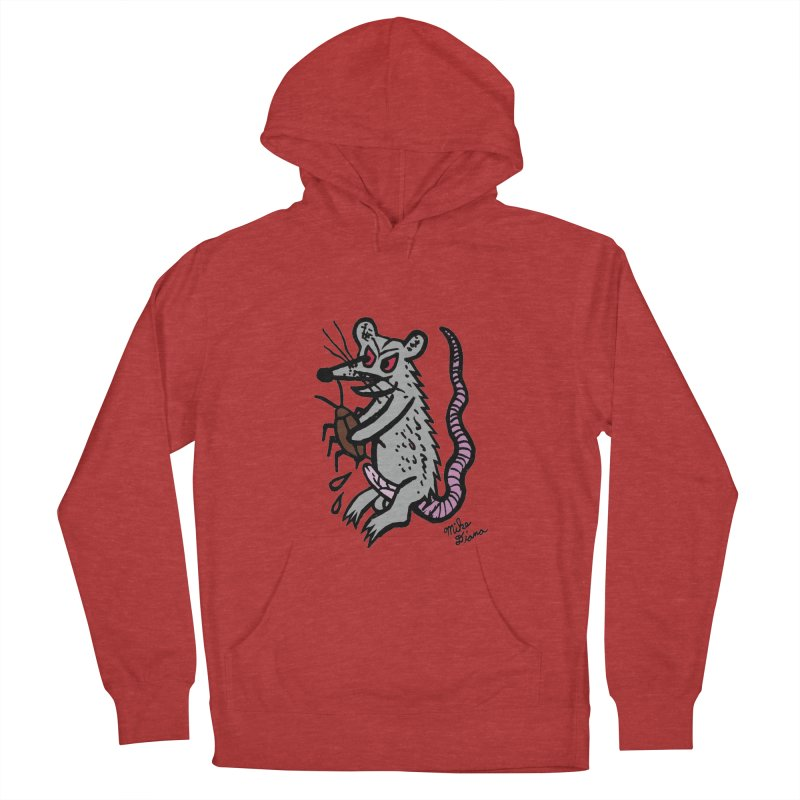 Ratty Men's Pullover Hoody by Mike Diana T-Shirts! Horrible Ugly Heads Limited E