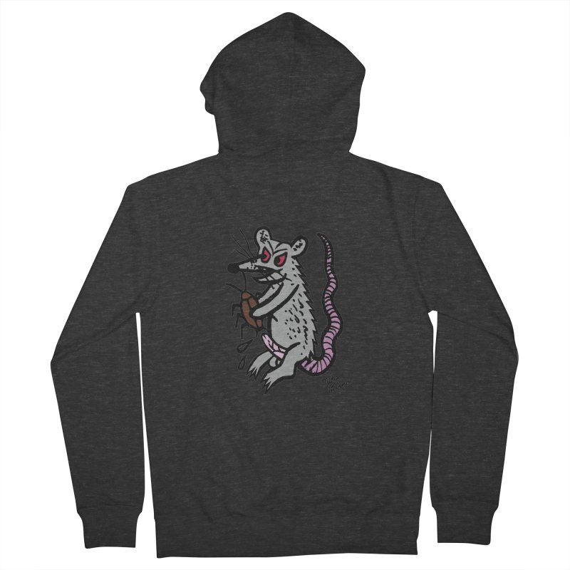 Ratty Women's French Terry Zip-Up Hoody by Mike Diana T-Shirts Mugs and More!