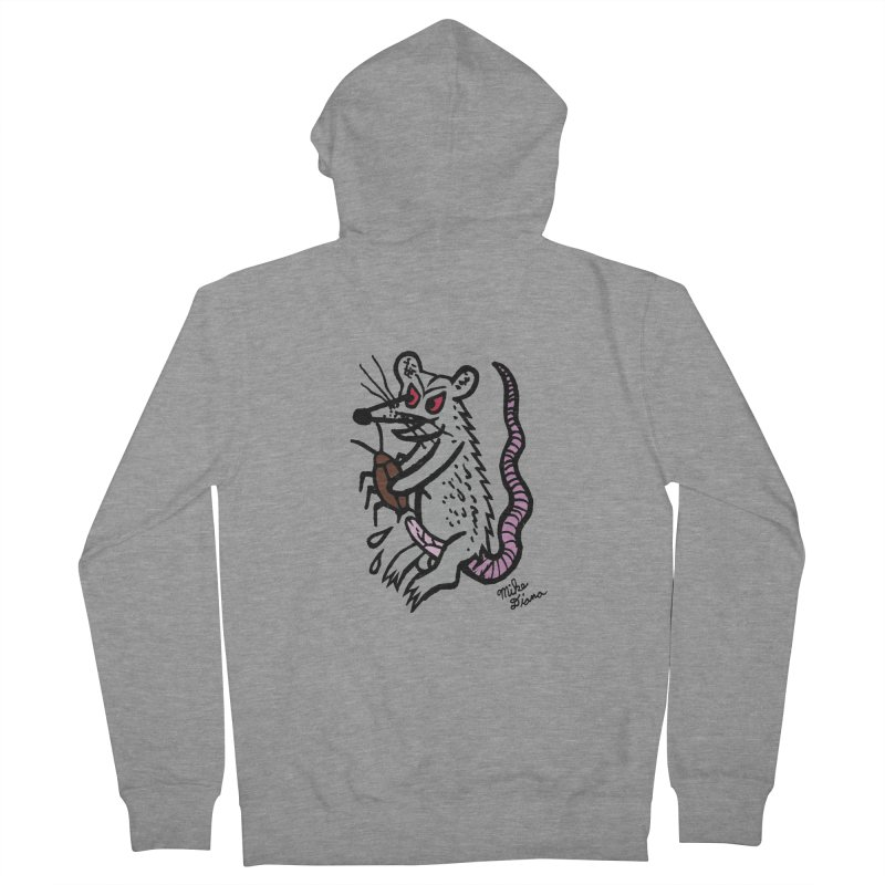 Ratty Women's Zip-Up Hoody by Mike Diana T-Shirts! Horrible Ugly Heads Limited E