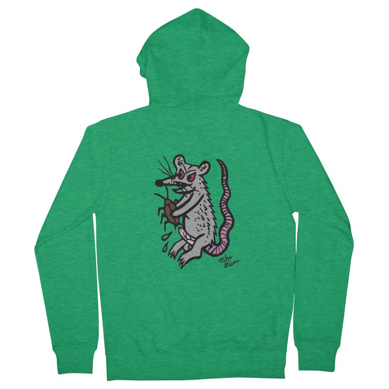 Ratty Men's French Terry Zip-Up Hoody by Mike Diana T-Shirts! Horrible Ugly Heads Limited E