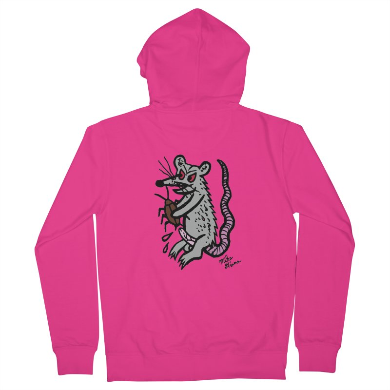 Ratty Men's Zip-Up Hoody by Mike Diana T-Shirts! Horrible Ugly Heads Limited E
