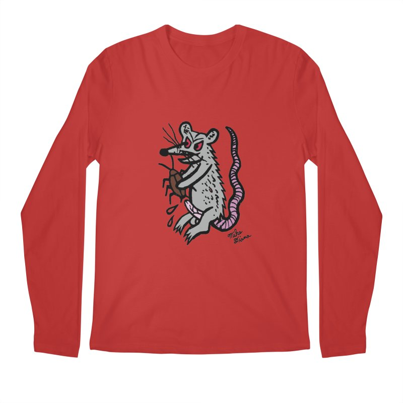 Ratty Men's Longsleeve T-Shirt by Mike Diana T-Shirts! Horrible Ugly Heads Limited E