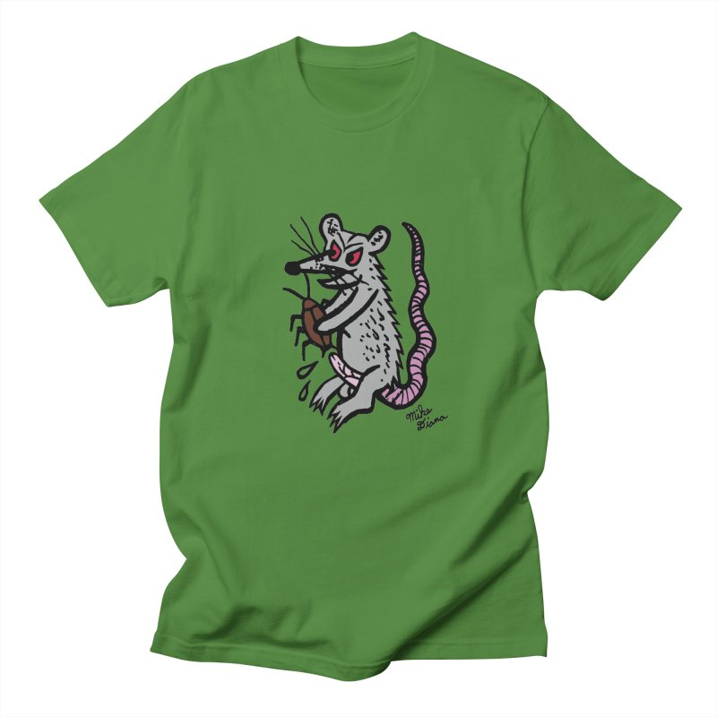 Ratty Women's Regular Unisex T-Shirt by Mike Diana T-Shirts! Horrible Ugly Heads Limited E