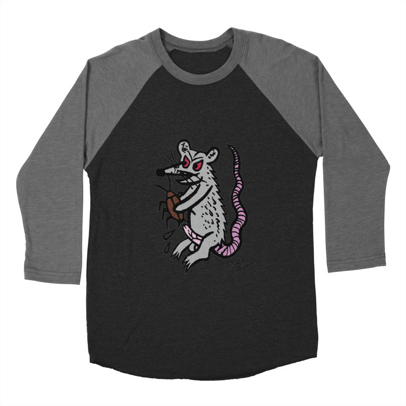 Ratty Women's Baseball Triblend T-Shirt by Mike Diana T-Shirts! Horrible Ugly Heads Limited E