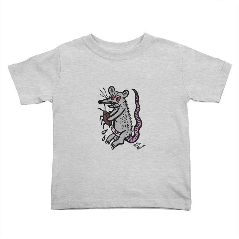 Ratty Kids Toddler T-Shirt by Mike Diana T-Shirts! Horrible Ugly Heads Limited E