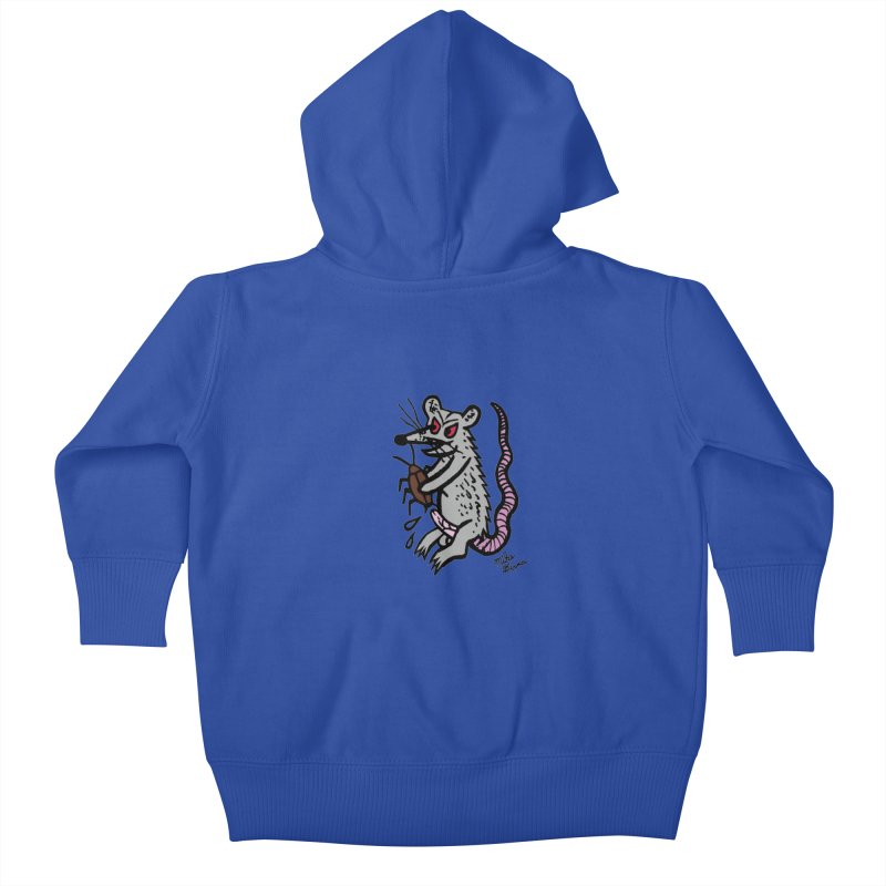 Ratty Kids Baby Zip-Up Hoody by Mike Diana T-Shirts! Horrible Ugly Heads Limited E