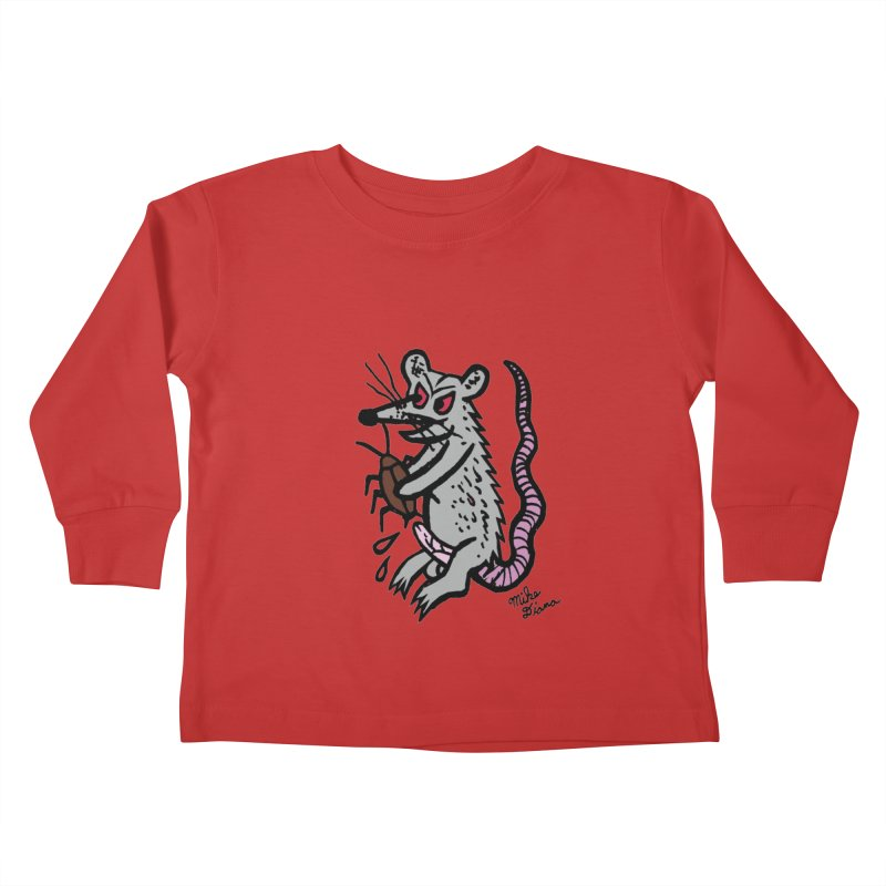 Ratty Kids Toddler Longsleeve T-Shirt by Mike Diana T-Shirts! Horrible Ugly Heads Limited E