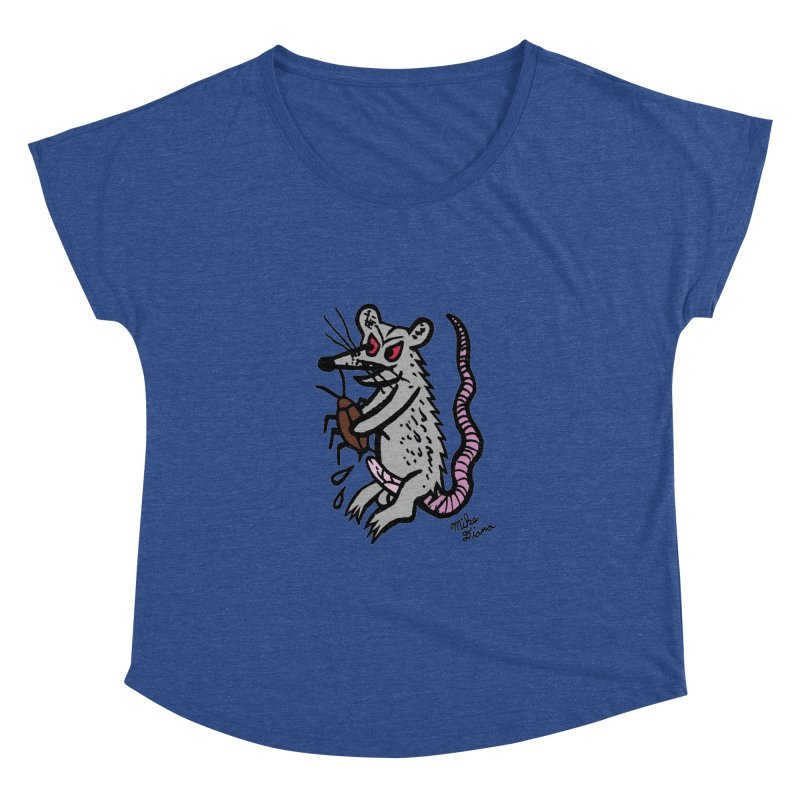 Ratty Women's Dolman by Mike Diana T-Shirts! Horrible Ugly Heads Limited E