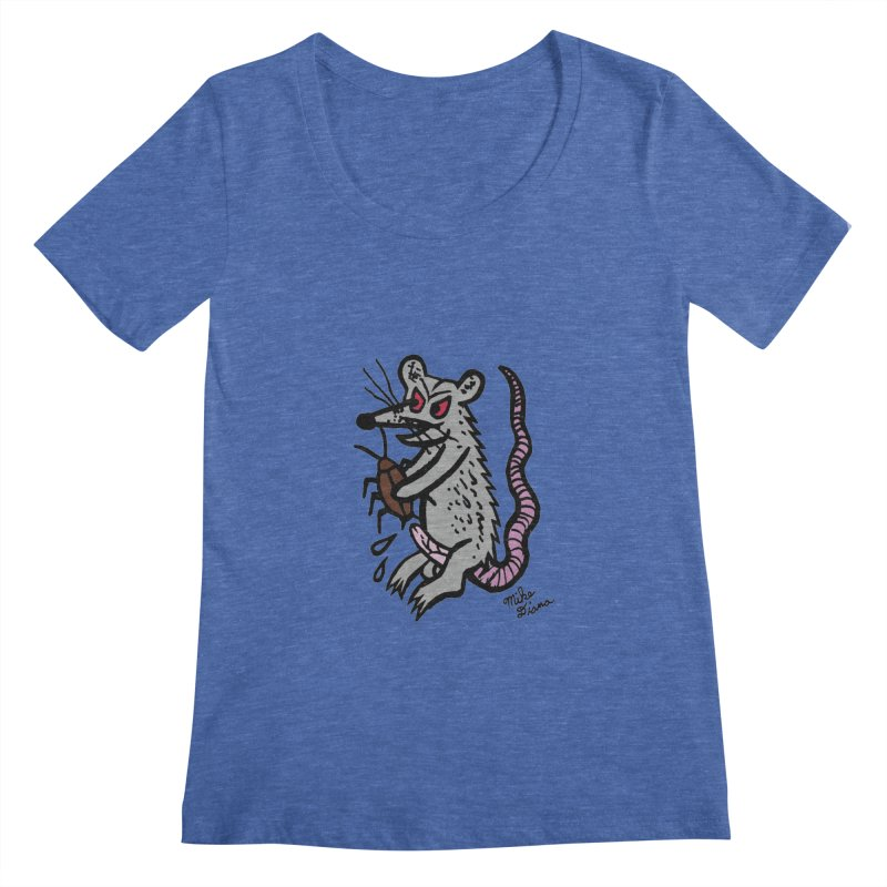 Ratty Women's Regular Scoop Neck by Mike Diana T-Shirts Mugs and More!