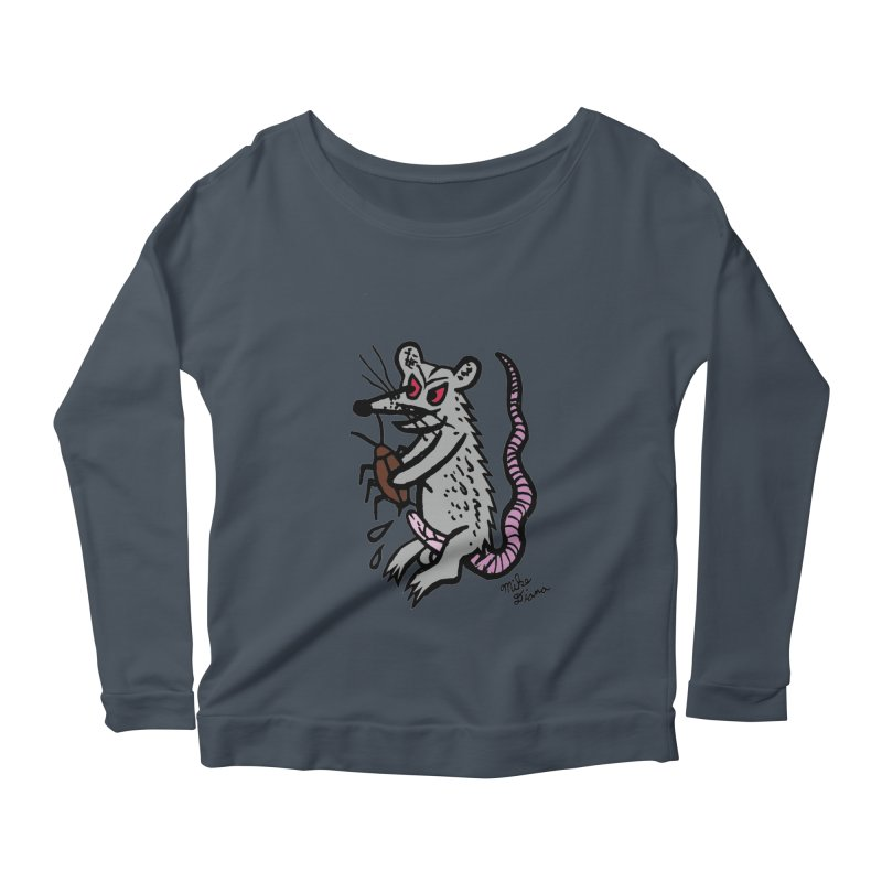 Ratty Women's Scoop Neck Longsleeve T-Shirt by Mike Diana T-Shirts Mugs and More!