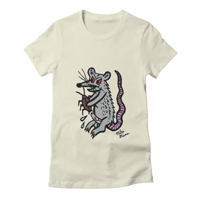 Ratty Women's Fitted T-Shirt by Mike Diana T-Shirts Mugs and More!