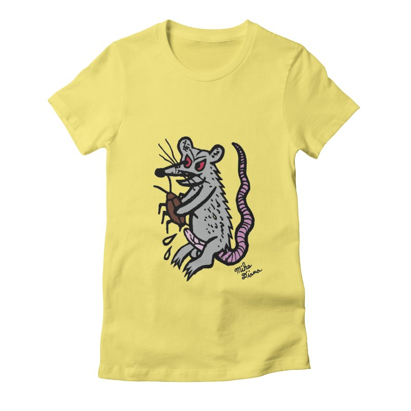 Ratty Women's Fitted T-Shirt by Mike Diana T-Shirts! Horrible Ugly Heads Limited E