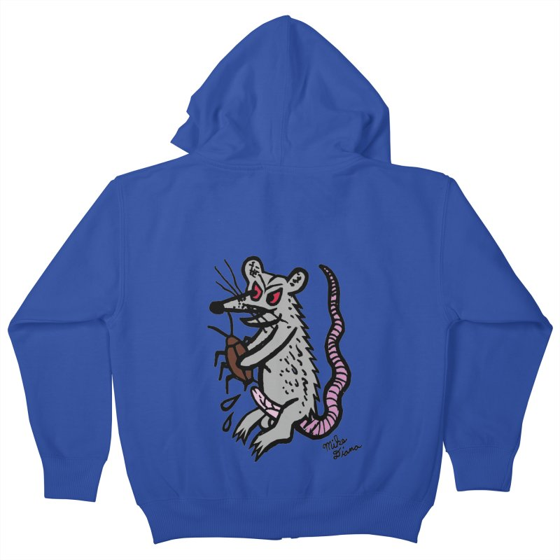 Ratty Kids Zip-Up Hoody by Mike Diana T-Shirts! Horrible Ugly Heads Limited E