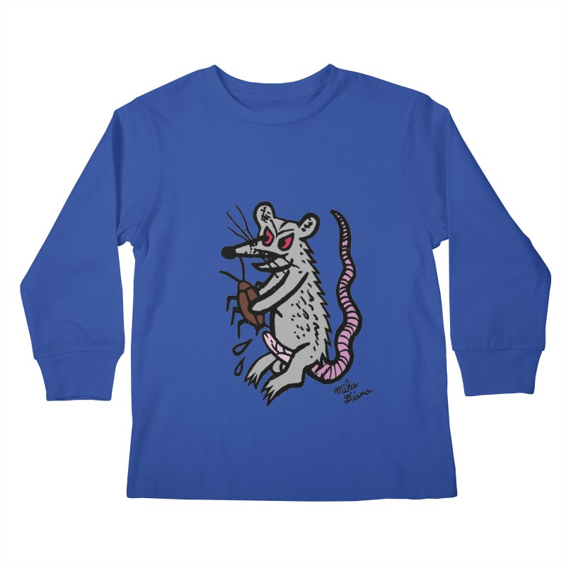 Ratty Kids Longsleeve T-Shirt by Mike Diana T-Shirts! Horrible Ugly Heads Limited E