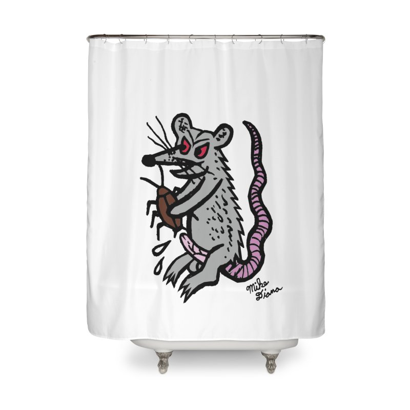 Ratty Home Shower Curtain by Mike Diana T-Shirts Mugs and More!