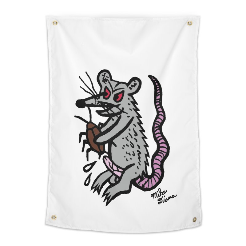 Ratty Home Tapestry by Mike Diana T-Shirts! Horrible Ugly Heads Limited E