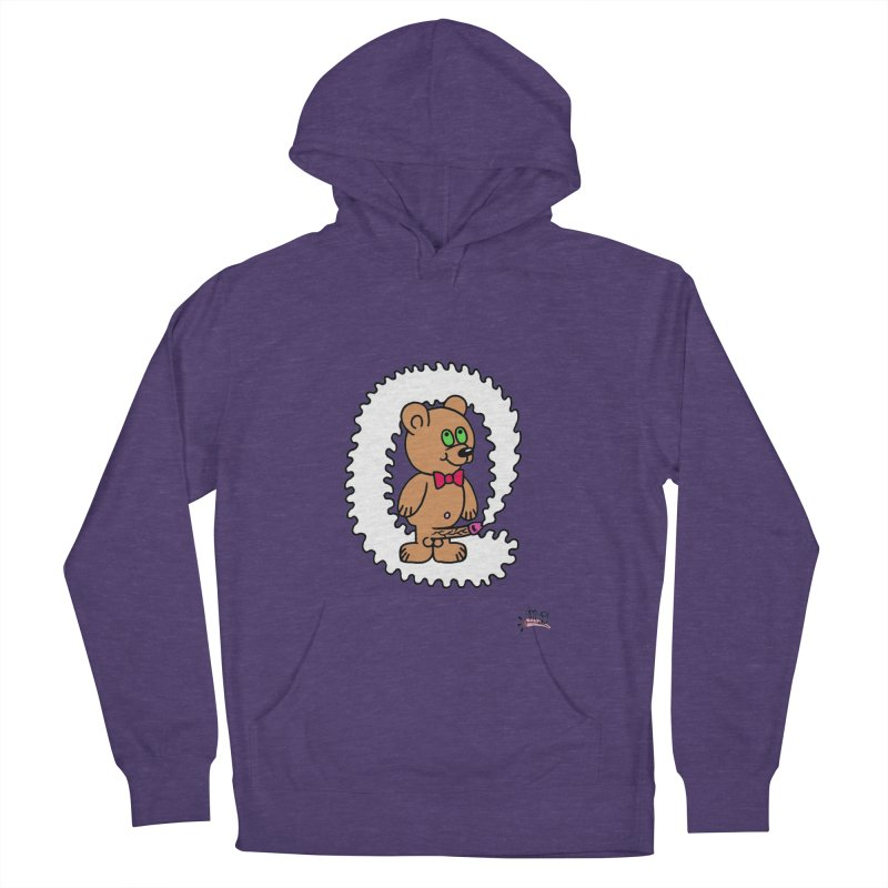 Cummie Bear Women's French Terry Pullover Hoody by Mike Diana T-Shirts! Horrible Ugly Heads Limited E