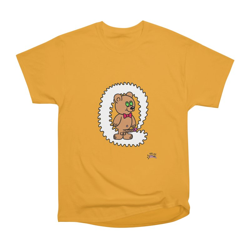 Cummie Bear Women's Heavyweight Unisex T-Shirt by Mike Diana T-Shirts! Horrible Ugly Heads Limited E