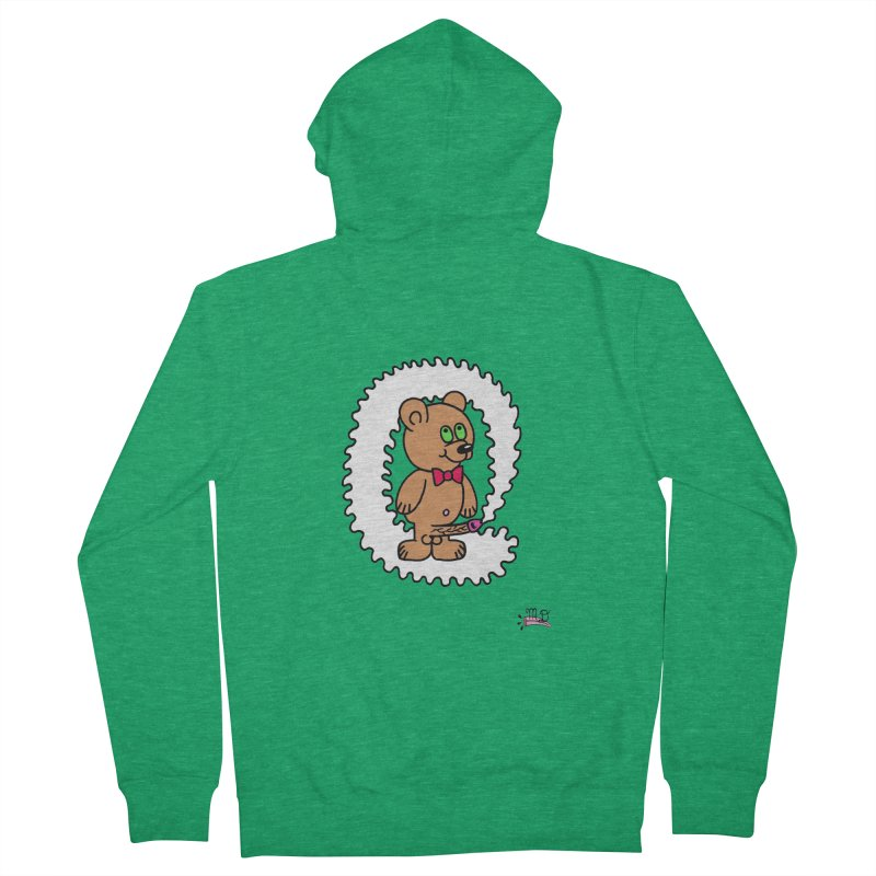 Cummie Bear Men's Zip-Up Hoody by Mike Diana T-Shirts! Horrible Ugly Heads Limited E